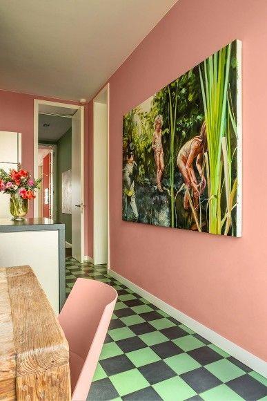"""paula's kitchen"""": eine farbe zwischen koralle und pink   wohnung, Design ideen"""