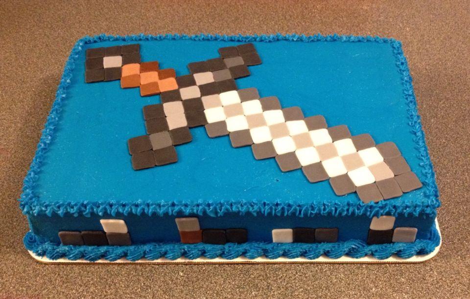 Minecraft Sword Cake By Www Dkscakes Com Minecraft