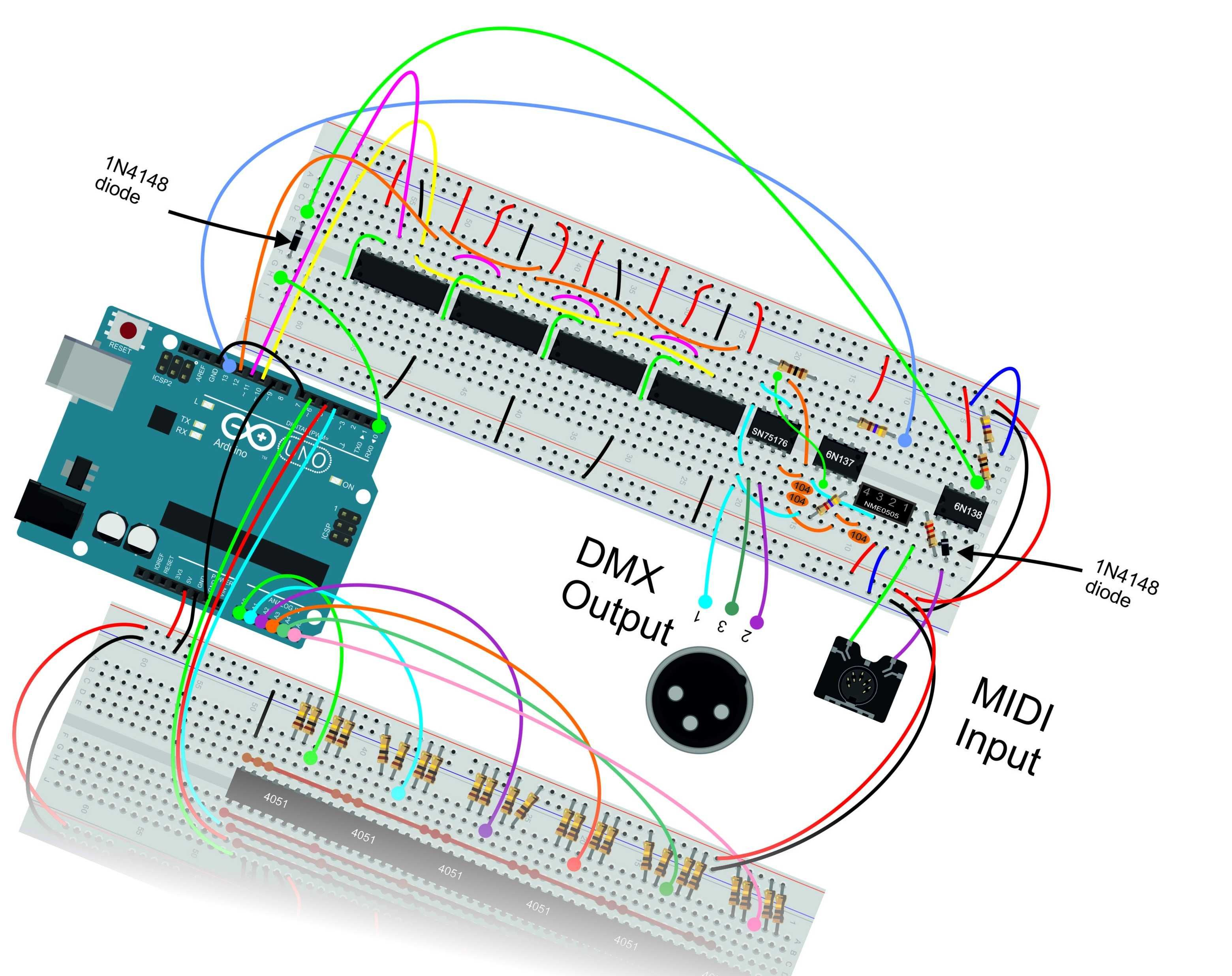 dart arduino midi dmx controller [ 3120 x 2472 Pixel ]