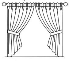 window frame coloring pages - photo#28