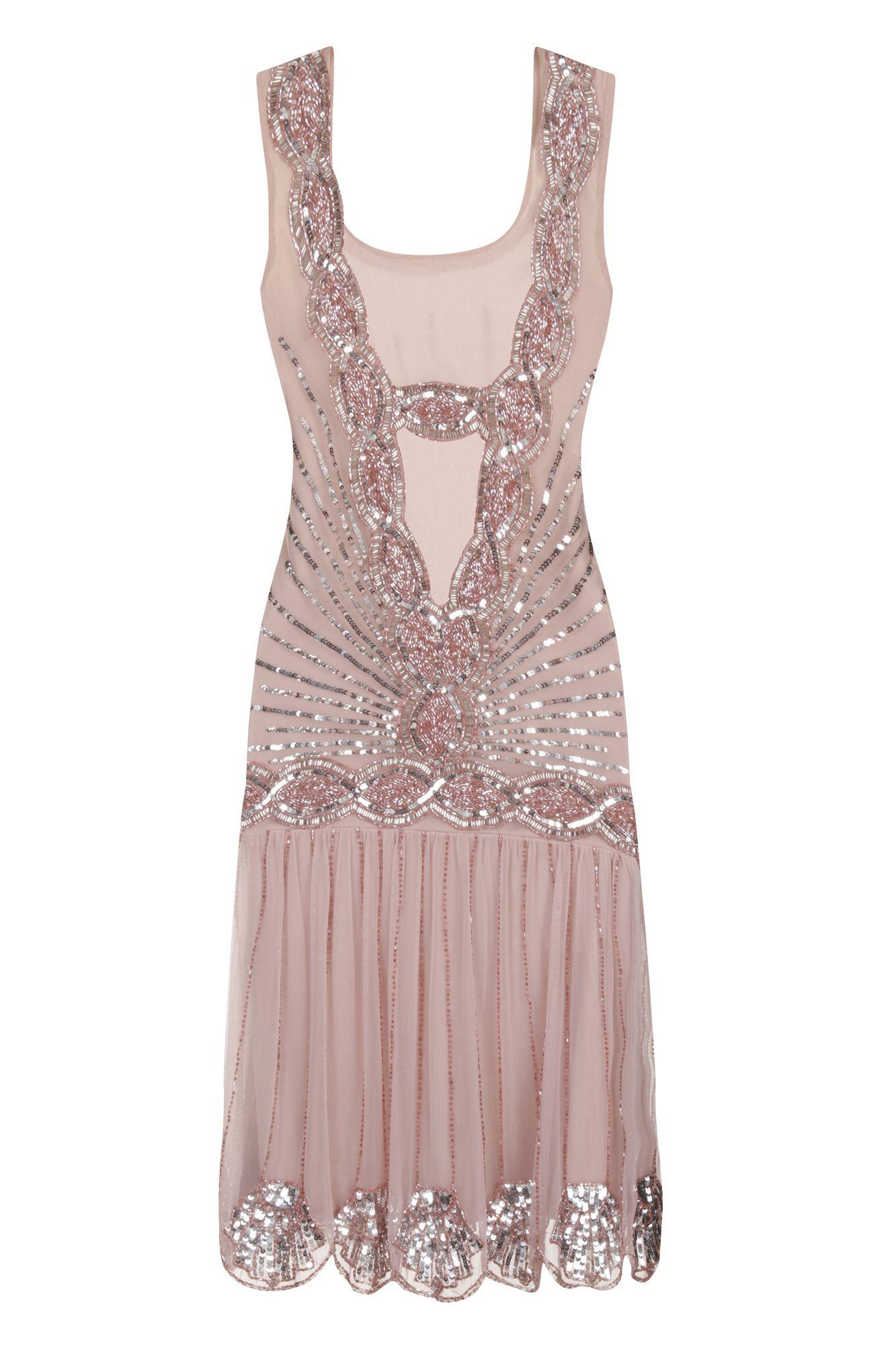 Zelda Flapper Dress Blush - Wedding - Dresses - Clothing £135 Frock ...