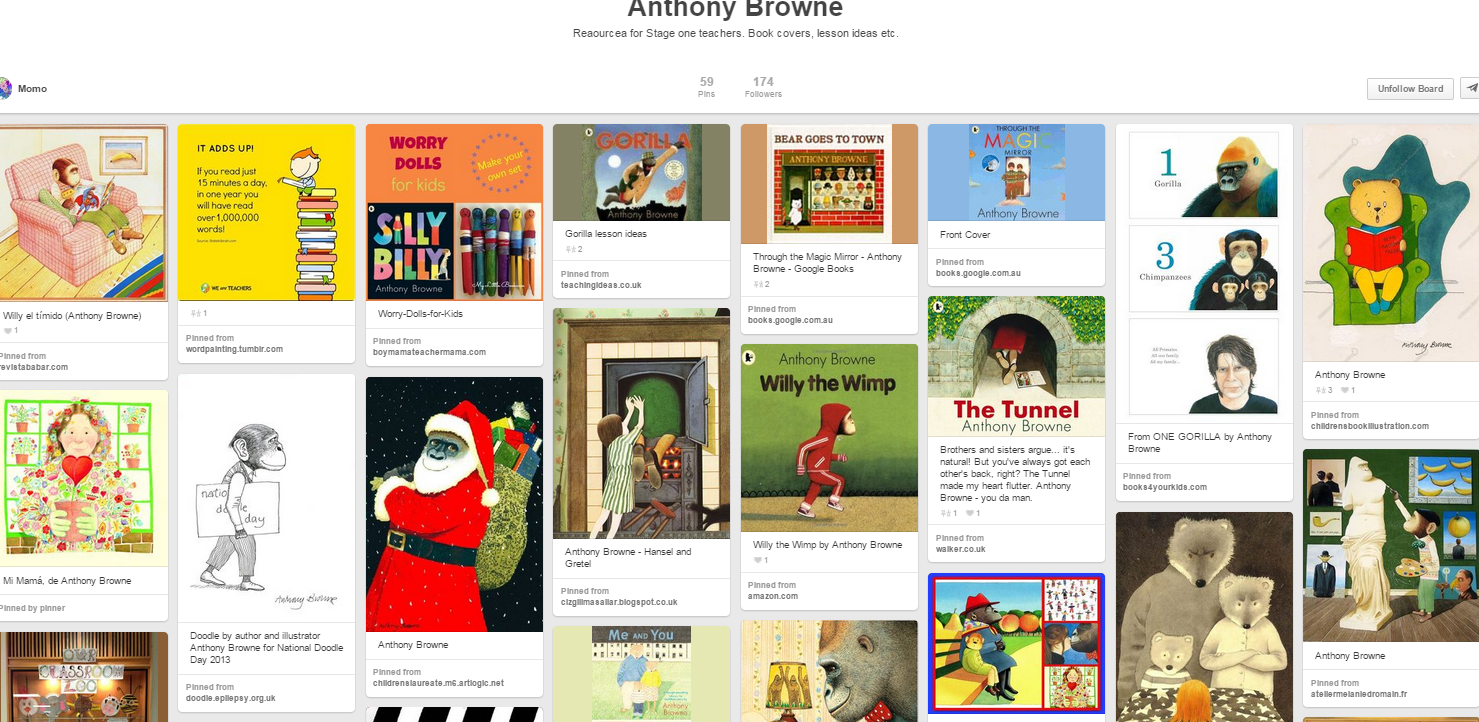 Workbooks willy the wimp worksheets : Anthony Browne board by Momo   Year 1 Anthony Browne Author Study ...