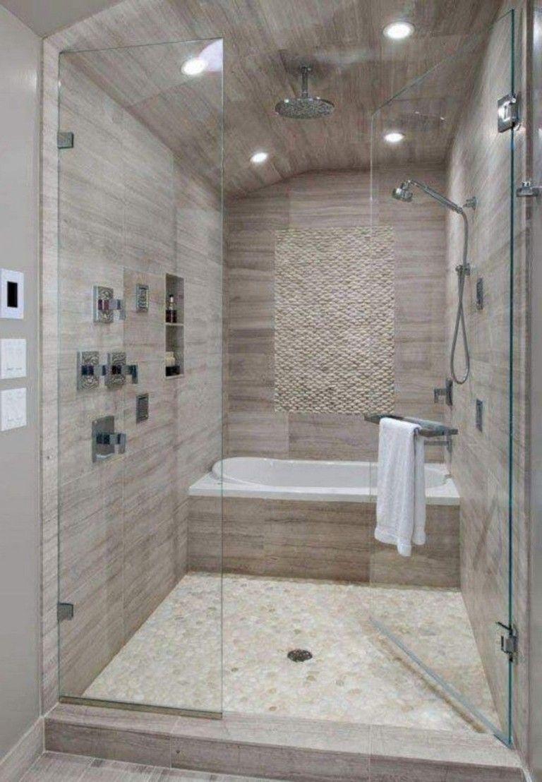 42 Pleasant Small Bathroom Shower With Tub Tile Design Ideas