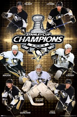 save off 24106 b7e4f Pittsburgh Penguins 2009 Stanley Cup Champions Posters ...