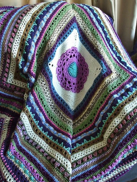 Stitch Sampler Pattern By Jean Holzman My Favorite Crochet Afghans