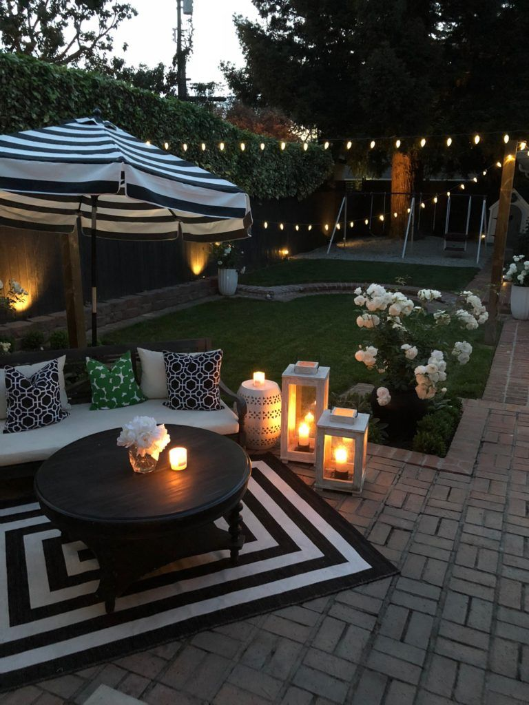Create An Outdoor Oasis With Accessories From Homegoods Your Guests May Never Want To Leave Patio Garden Ideas On A Budget Backyard Decor Small Backyard Patio