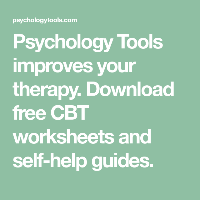 Psychology tools improves your therapy. Download free cbt.