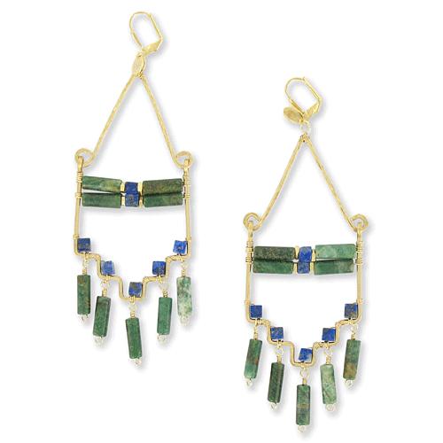 Jade kenza earrings from double happiness.