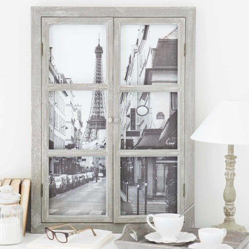 Holzbild Fenster, 57x79 In 2019