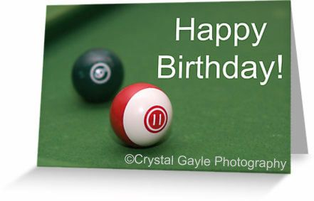 Teenager Birthday Cards with various ages available in pool ball numbers by Crystal Gayle Photography, $4.50