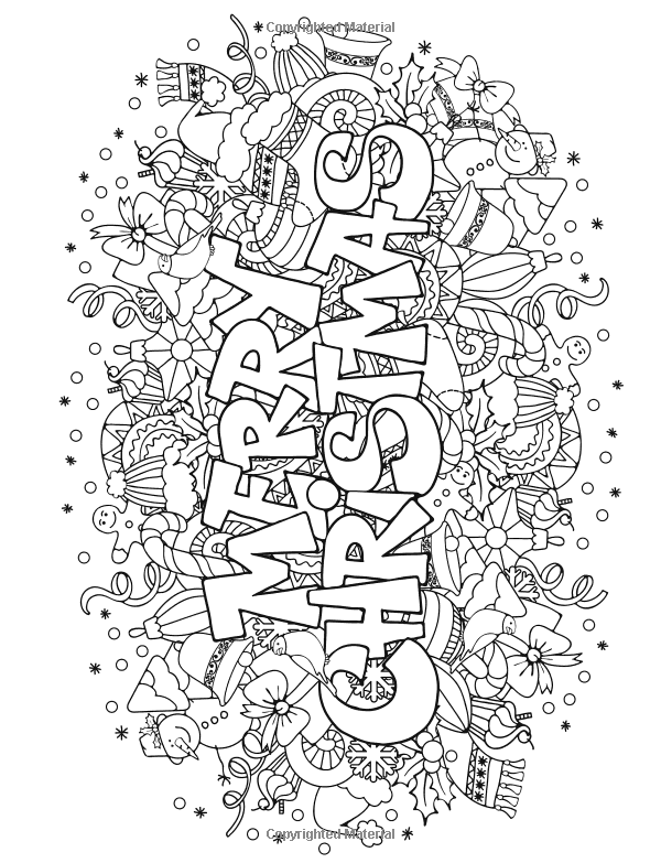 christmas coloring pages colouring adult detailed advanced printable kleuren voor volwassenen coloriage pour adulte anti stress kleurplaat voor volwassenen