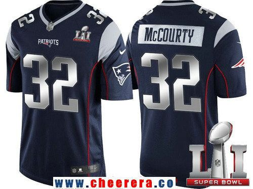 8c4c81195 Men s New England Patriots  32 Devin McCourty Navy Blue With Silver 2017  Super Bowl LI Patch Stitched NFL Limited Jersey