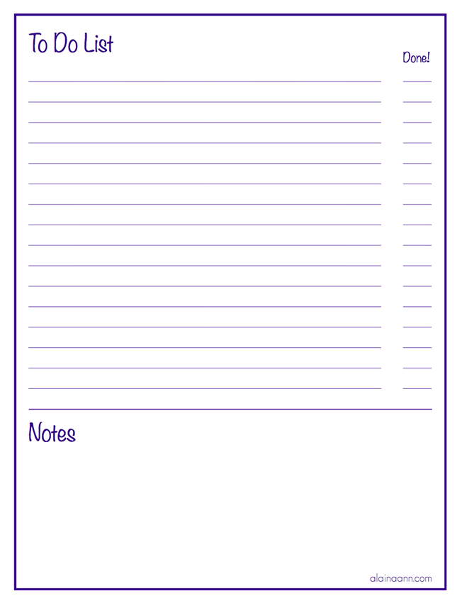 Post it Note To-Do List - The Sunny Side Up Blog | to do list note
