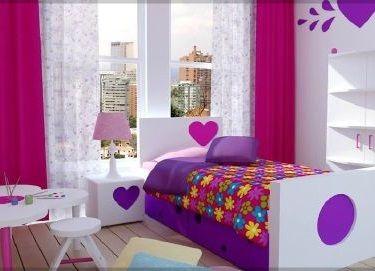 image result for cortinas para habitacion de nias