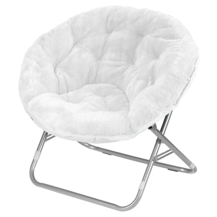 Mainstays Faux Fur Saucer Chair | Saucer chairs, Chairs loft