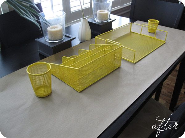 ikea office accessories. *GOLD* Spray Painted Office Accessories Ikea O
