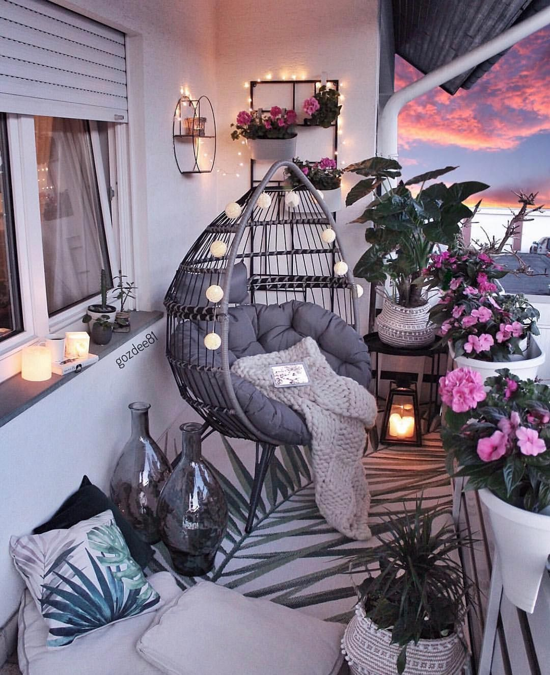 "Design Your Spaces on Instagram: ""Check out this amazing balcony!! Who said you can't do much a with a small balcony?!? I love everything about this space, what's your…"""