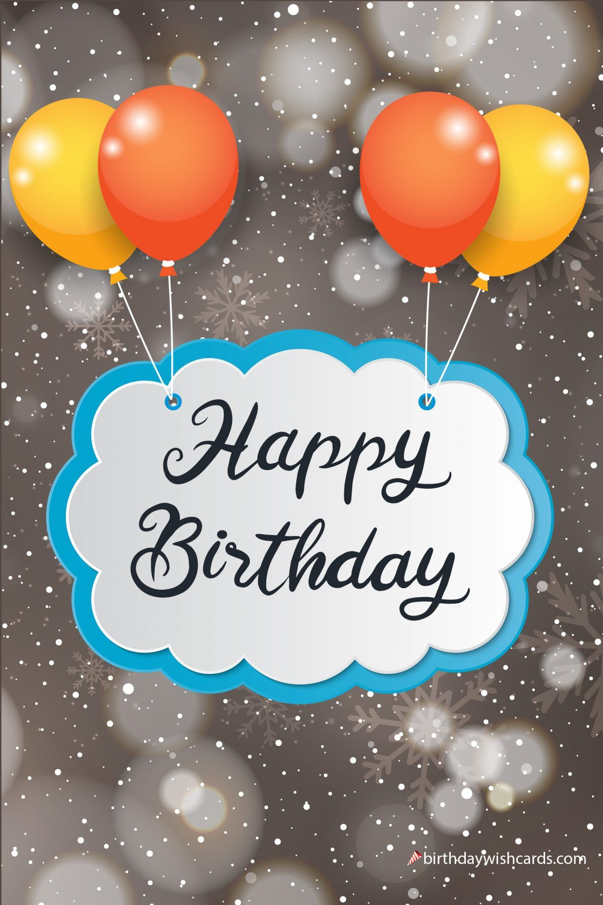 Happy Birthday To You Image With Snow Fall Birthday Wish Cards Birthday Wishes Cards Happy Birthday Messages Happy Birthday Mom