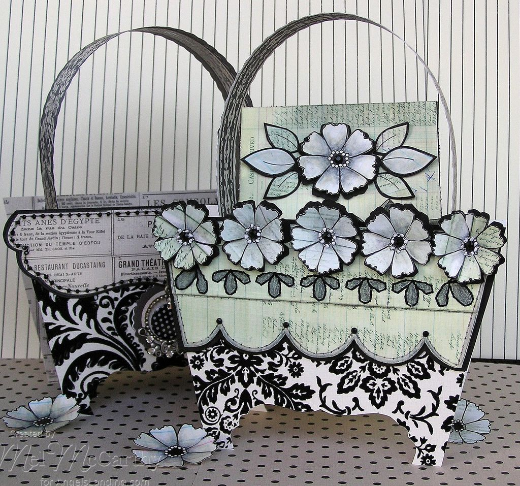 Pierced Backgrounds & Simply Flowers Purse (card box) melstampz ...