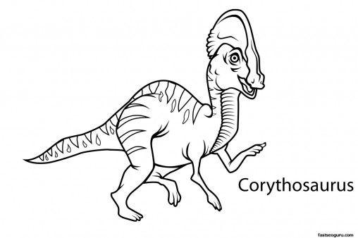Printable Dinosaur Corythosaurus Coloring Pages Printable Coloring