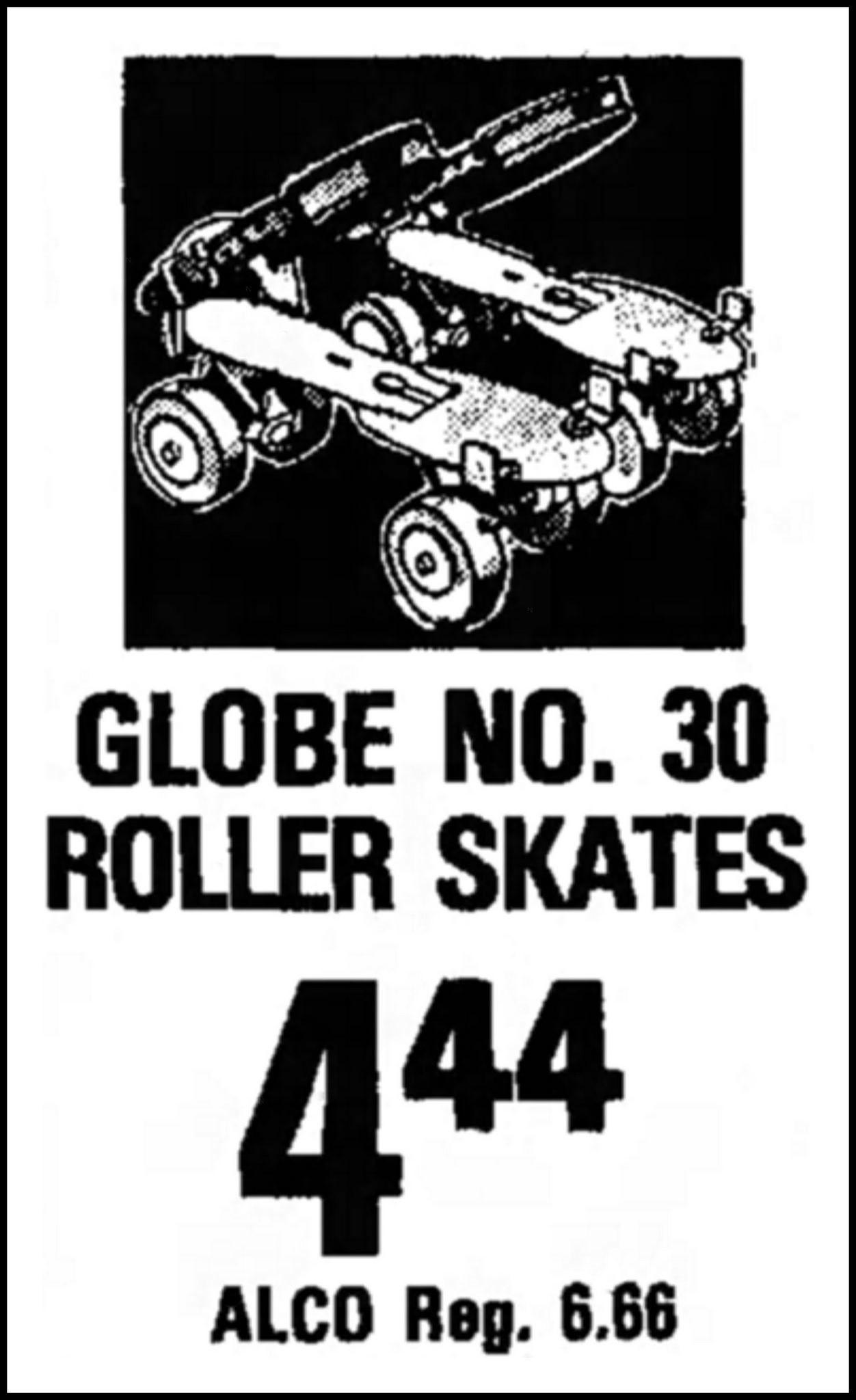Advertising For Globe Children's Roller Skates No. 30 In