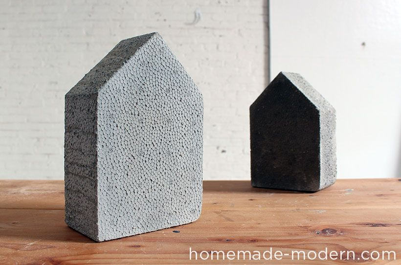 Homemade Modern Ep25 Concrete Bookends Concrete Diy Concrete Crafts Concrete Molds Diy