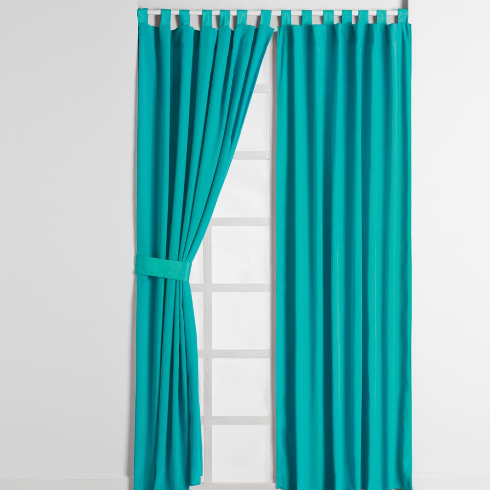 cortina alegro turquesa recamara sala cortinas hogar intimahogar decoracion