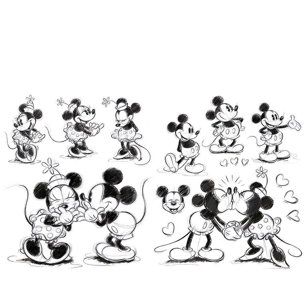 Micky Maus Wandsticker Mickey Mouse Disney Wanddekoration Kinder ...