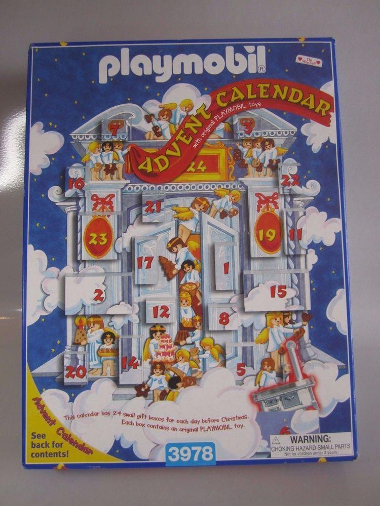 1999 Playmobil Advent Calendar 3978 Christmas Bake Shop Boxes