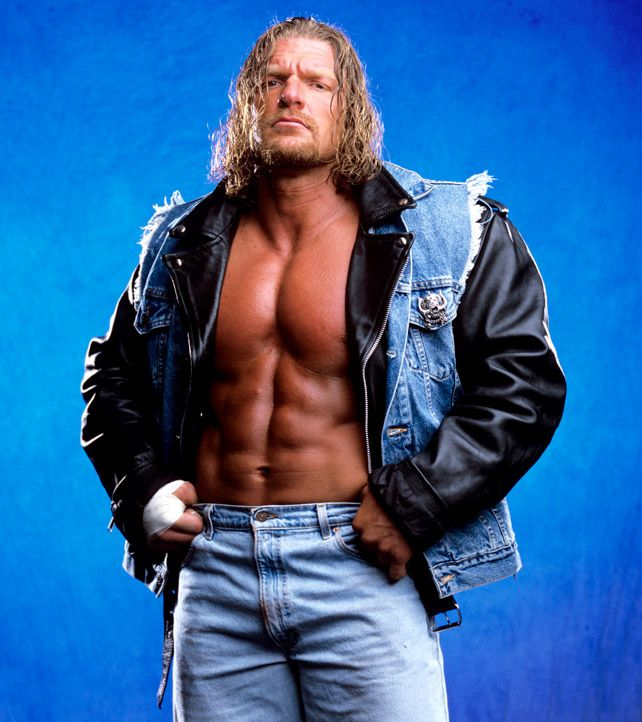 Image result for triple h with long hair