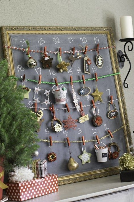 Christmas Tree Ornament Advent Calendar