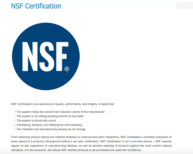 Crystal Clean Water Blog Nsf Certification Is An Assurance Of