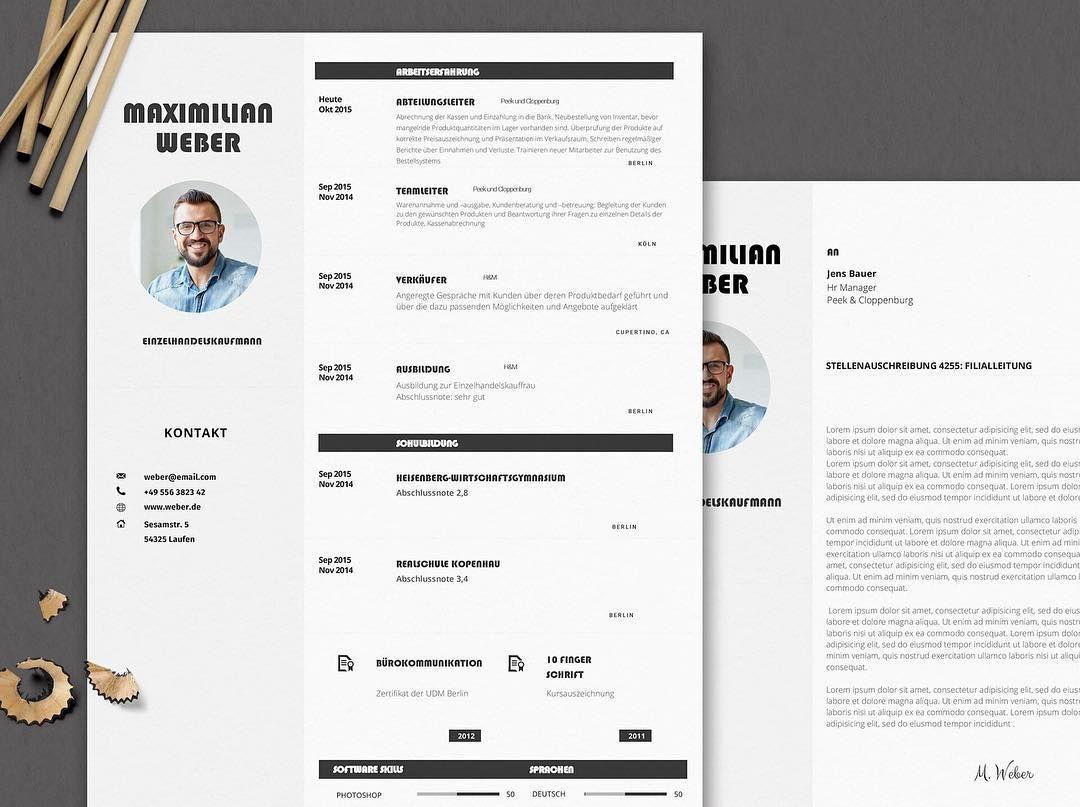 Bewerbungsvorlage - Mr. Weber #bewerben #karriere #kreativ ...