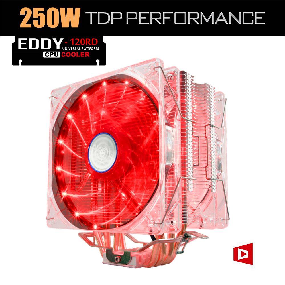 Aluminum Heat Pipe LED CPU Cooler Heatsink Dual Fan For LGA 1155 775 AM4  new