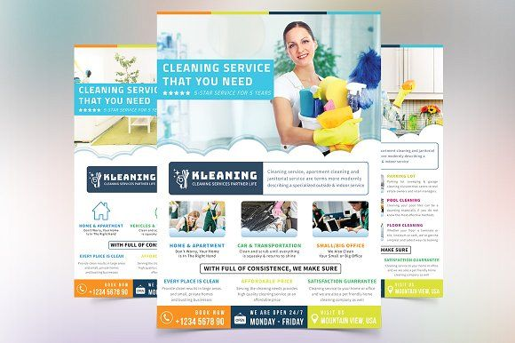 Cleaning Service Flyer Creativework Flyer Templates Flyers - Cleaning service brochure templates