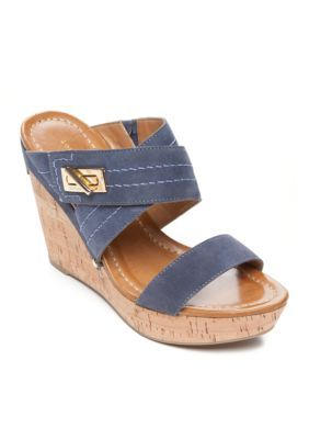 68d3f16b25 Tommy Hilfiger Mili Cork Wedge Sandal in 2019 | shoes | Wedge ...
