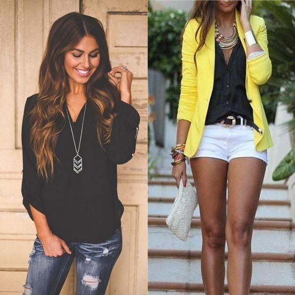 Черные блузки 2016 года на фото: с чем носить женские ...