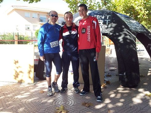 1/2 maratón Pinoso 2013. 3er clasificados Senior y Veterano C.