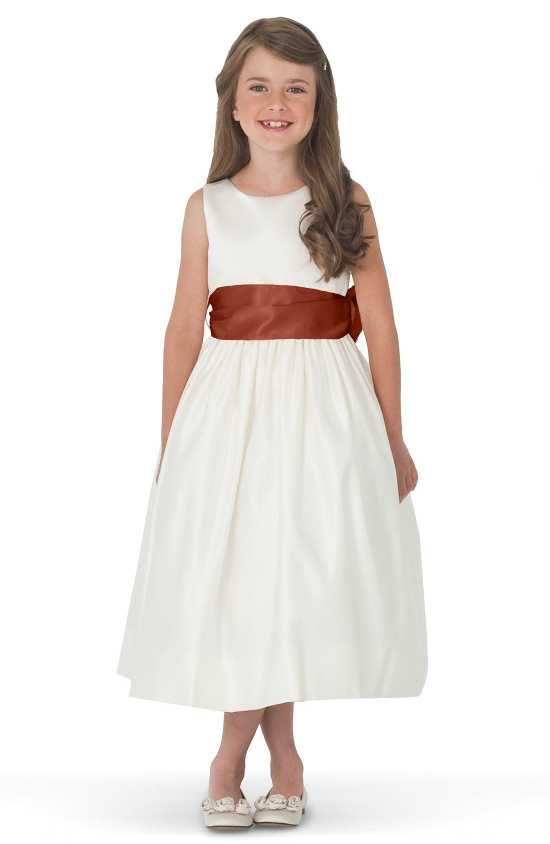 493fd4a50c3b4 Us Angels Ivory Satin Tank Dress (Toddler