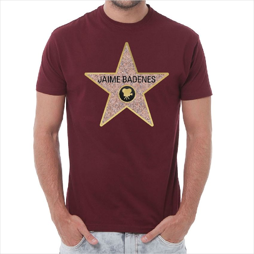 Camisetas Camiseta personalizada estrella Hollywood  91d1e0c5518ec