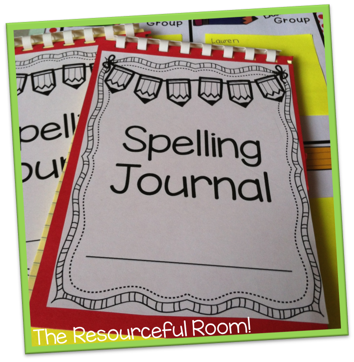 make a spelling journal with a small legal pad and free