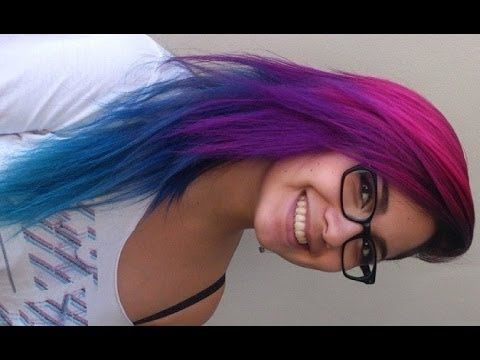 How I Did My Pink Purple Blue And Turquoise Hair Youtube Blue And Pink Hair Hair Color Pink Cool Hair Color