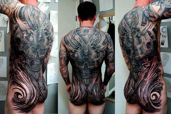 H. R. Giger Inspired Tattoos | Tatt | Tattoos, Mechanic ... H.r. Giger Tattoo
