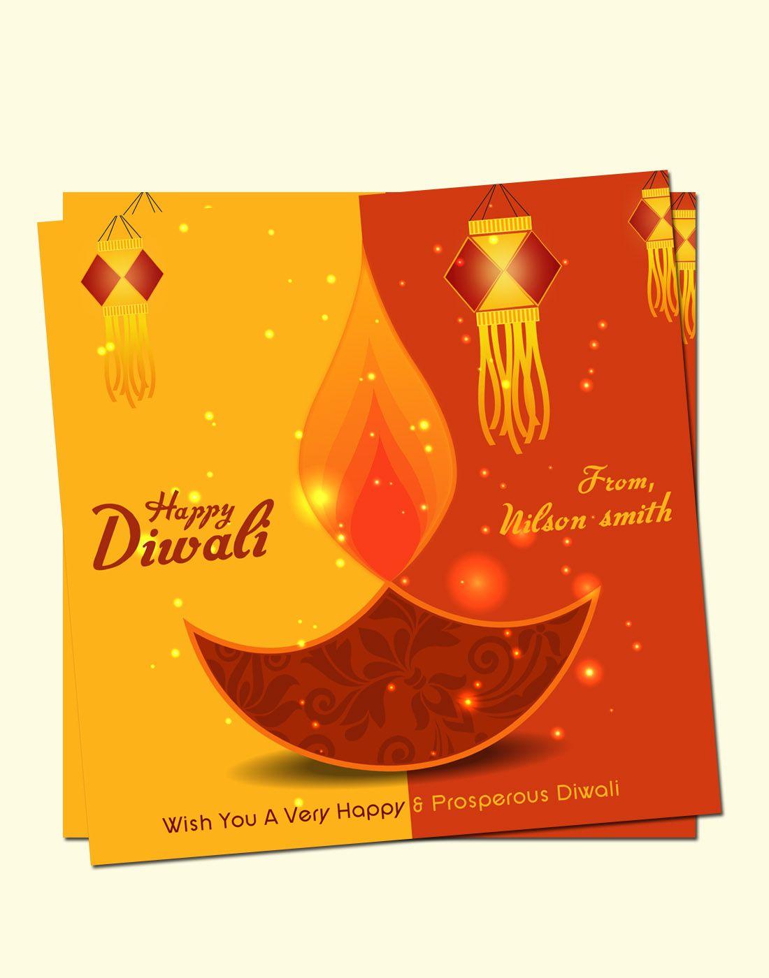 Diwali Vector Card Template | Pinterest | Diwali, Card templates and ...