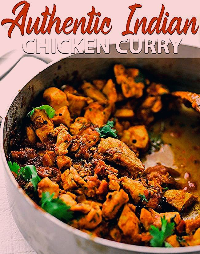 Authentic Indian Chicken Curry Recipe - Stop opening up a jar of imitation curry and learn how to make a delicious homemade authentic chicken curry recipe that comes together in only 1 hour. #curry #indianfood #currychicken #tiffin