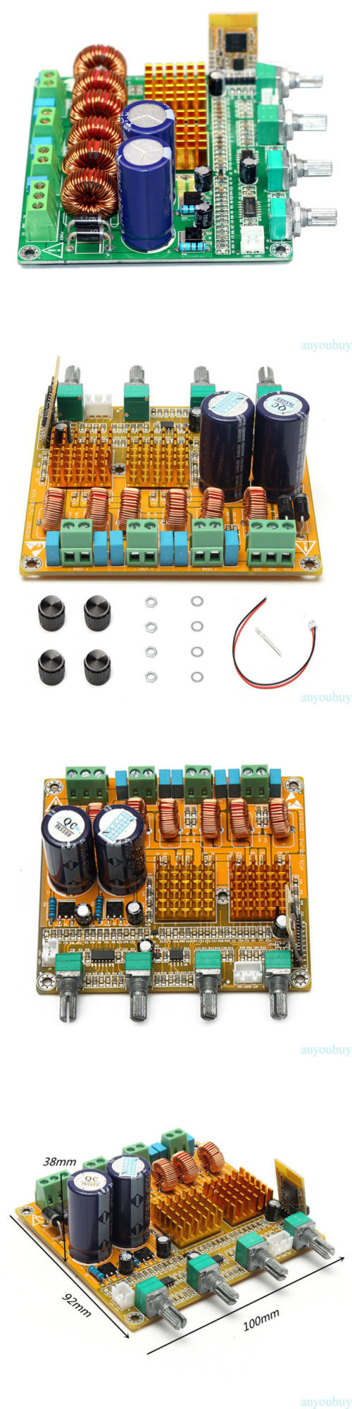 Amplifier Parts And Components Bluetooth 21 3 Channel Class D 2x50w Stereo Audio Power Circuit Board Ebay Finished Replacement
