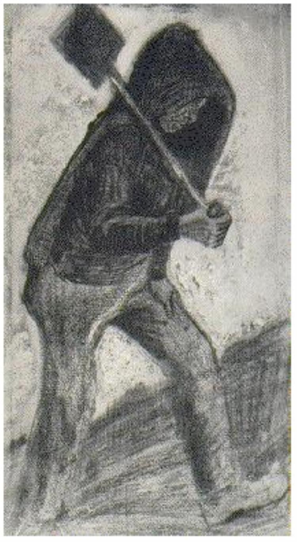 Vincent van Gogh Paleador de carbón Drawing                                                                                                                                                     Más