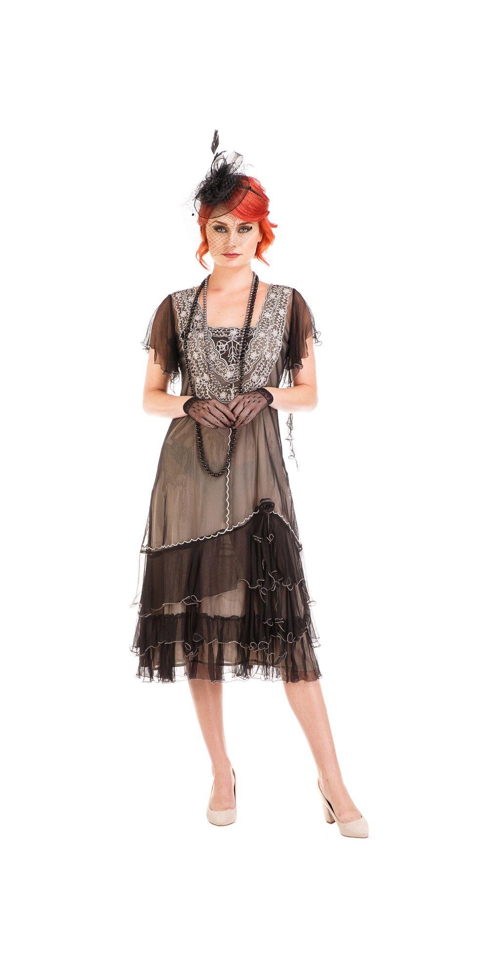 Age of Love Alexa 1920s Flapper Style Dress in Black