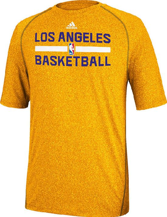 purchase cheap 29613 50834 Los Angeles Lakers Heather Gold Climalite Practice Short ...