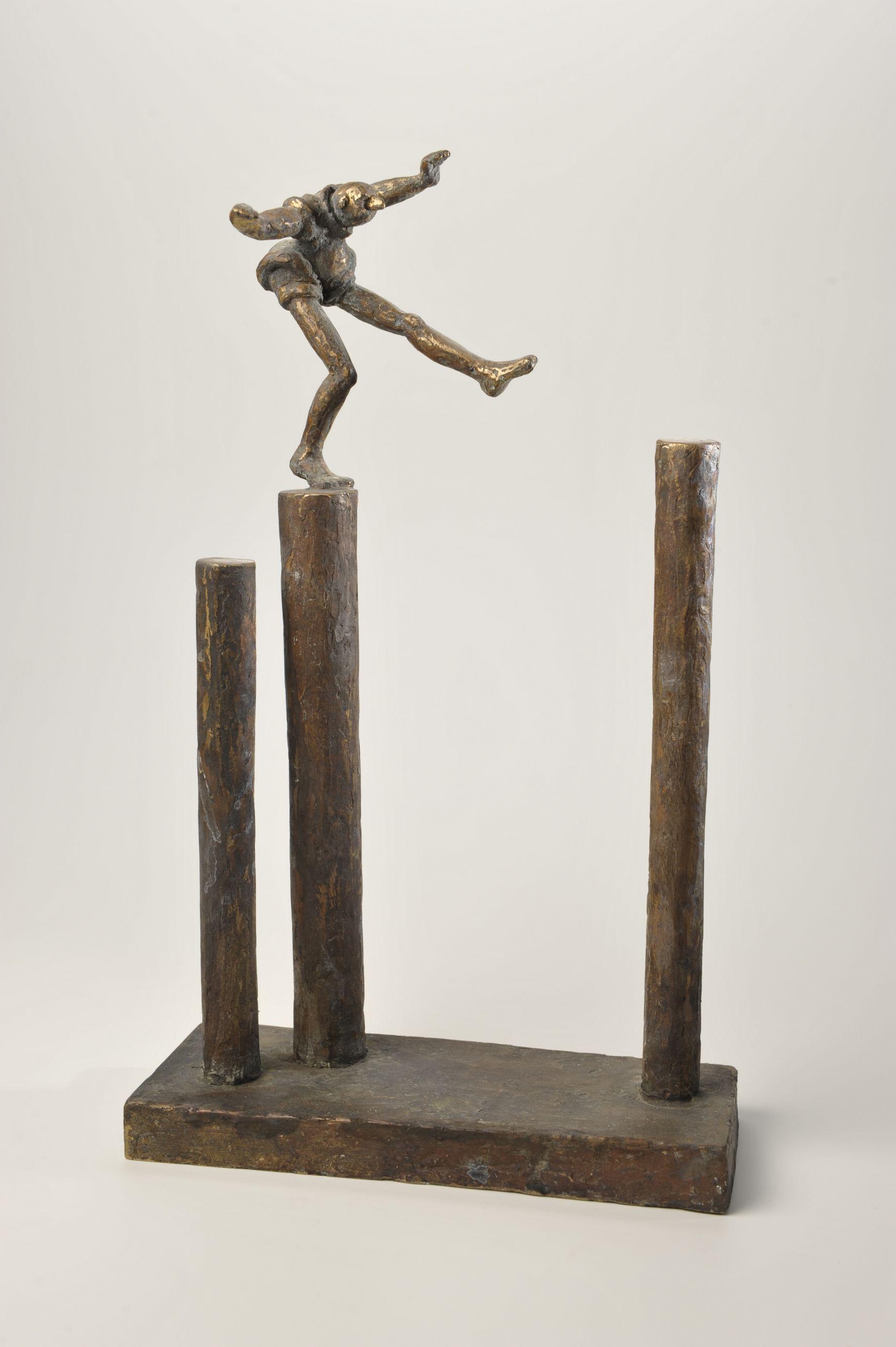 kunst art bronze bronce gartenkunst bildhauer wohnraum schoenerwohnen der kleine saulenspringer 40cm gross sp skulpturen moderne gemälde kaufen online